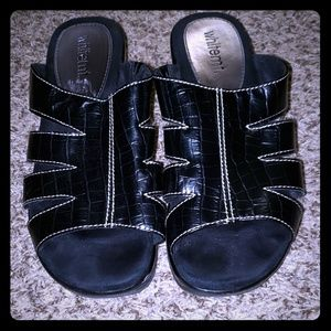 2 for $7.00 Black Wedges